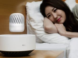LG makes a levitating portable speaker because it looks cool