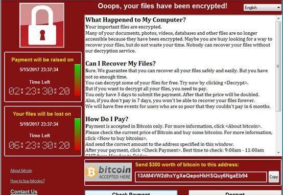 wannacry ransomware cyber attack