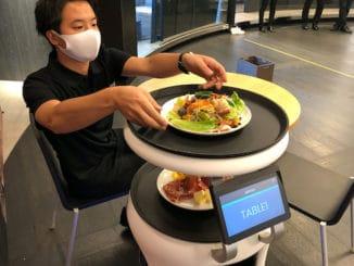 softbank robot servi