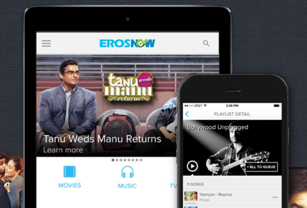 Microsoft content with Eros Now