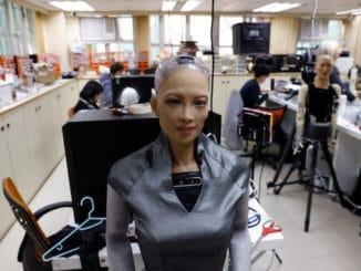 Sophia Hanson humanoid robot