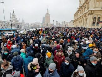 Russian protestors facial recognition