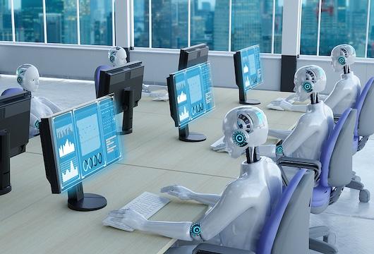 middle managment AI robots